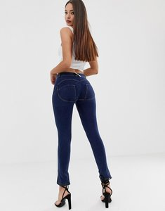 Read more about Freddy shaping effect midrise skinny jeans with embroidery detail