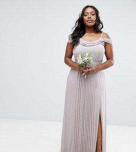 Read more about Tfnc plus wedding cold shoulder embellished maxi dress - lavender fog