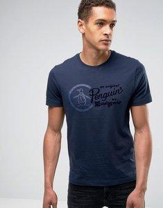 Read more about Original penguin script logo t-shirt - navy