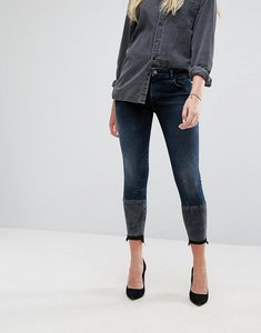 Read more about Dl1961 florence crop skinny jean with contrast wash hem detail - mercy