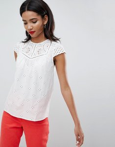 Read more about Esprit broderie detail top - white