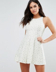 Read more about Traffic people floral skater dress - green