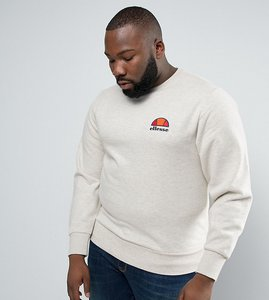 Read more about Ellesse plus sweatshirt with small logo in grey - beige