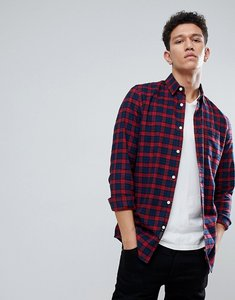 Read more about Threadbare bold flannel check shirt - red