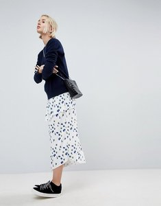 Read more about Asos white pleated floral co-ord skirt - multi