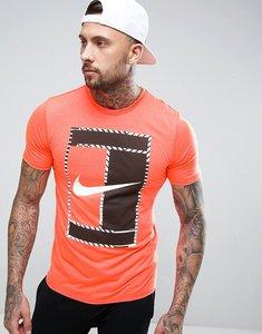 Read more about Nike t-shirt with large swoosh logo in orange 868770-877 - orange