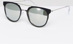 Read more about New look double bar mirrored sunglasses - crystal