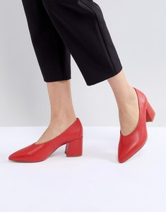 Read more about Matt nat sibyl v cut block heeled point shoe - ruby