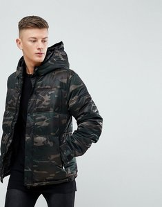 Read more about New look quilted jacket in camo print khaki - dark khaki