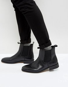 Read more about Bellfield leather chelsea boots - black