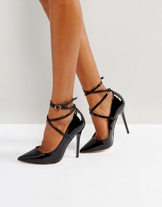 Read more about Office hilda patent pointed court shoes - black