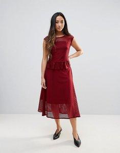 Read more about Gestuz garrie sheer midi dress - burgundy