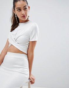 Read more about Glamorous metallic twist detail top - white metallic