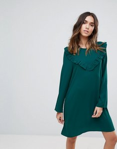 Read more about Brave soul frill swing dress - forest green