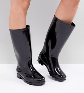 Read more about Asos design gransta wide fit wellies - black