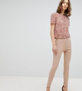 Read more about Asos design tall high waist trousers in skinny fit - cosmetic pink