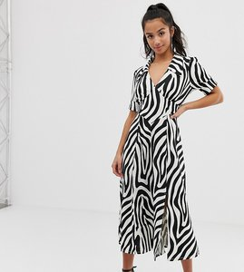 Read more about Asos design petite animal print midi tea dress