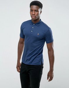 Read more about Polo ralph lauren pima jersey polo slim fit in navy marl - monroe blue hthr