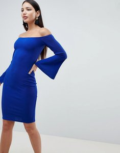 Read more about Ax paris flute sleeve midi dress - blue