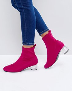 Read more about Asos rosina heeled sock boots - pink