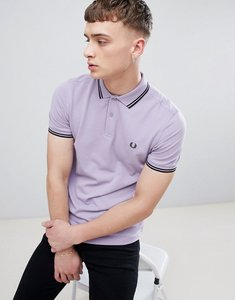 Read more about Fred perry twin tipped polo in lilac - 415
