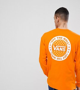 Read more about Vans oversized long sleeve t-shirt in orange exclusive to asos - orange