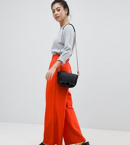 Read more about Asos petite the wide leg trouser with pleat detail - orange