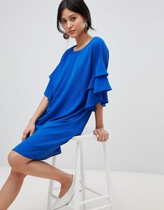 Read more about Y a s shift dress with ruffle sleeve - blue