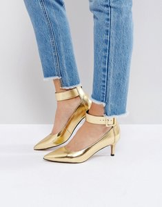 Read more about Asos solo kitten heels - gold metallic