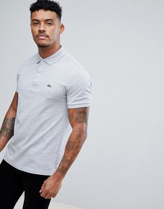 Read more about Lacoste slim fit logo polo shirt in light grey marl - cca