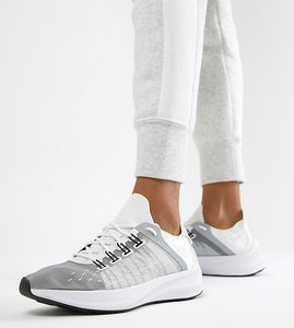 Read more about Nike white and grey future fast racer trainers - white grey