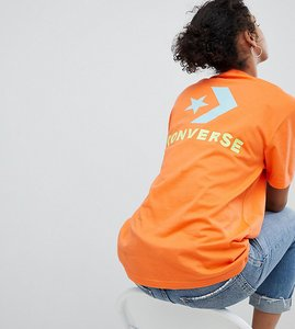 Read more about Converse exclusive to asos t-shirt in orange - orange