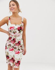 Read more about Paper dolls square neck midi pencil dress in floral print