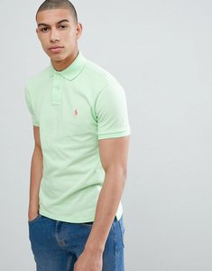 Read more about Polo ralph lauren slim fit pique polo in lime green - cruise lime