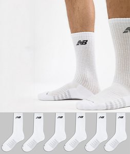 Read more about New balance 6 pack crew socks in white n5050-801-6eu wht - white