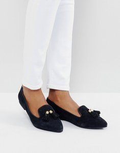 Read more about Park lane suede tassle point flat shoes - black suede