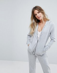Read more about Ugg grey double knit fleece zip hoodie co-ord - seal heather