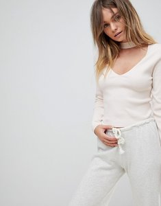 Read more about Micha lounge high neck rib jumper - nude