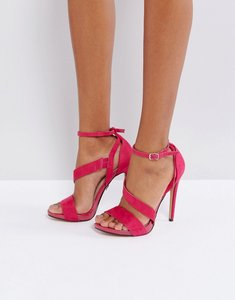 Read more about Lost ink pink strappy heeled sandals - pink
