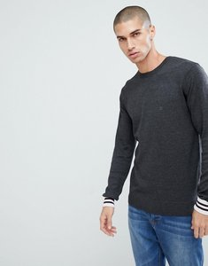 Read more about French connection crew neck knitted jumper with contrast cuff