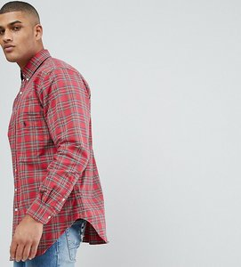 Read more about Polo ralph lauren tall oxford shirt in red check - red hunter green