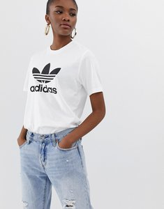 Read more about Adidas originals trefoil oversized t-shirt in white - white