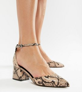 Read more about Asos design starling pointed heels - snake