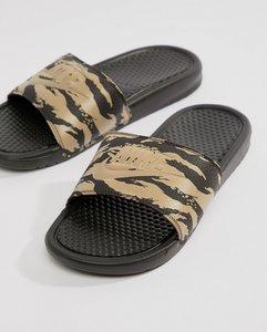Read more about Nike benassi aop sliders in beige aq5060-200 - beige