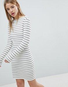 Read more about Jdy striped bodycon dress - white