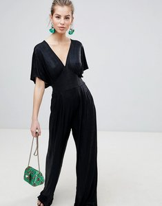 Read more about Traffic people kimono sleeve tailored jumpsuit - black