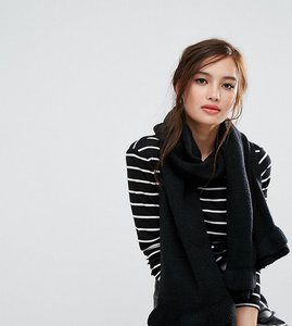 Read more about Willow and paige oversized scarf with frill detail - black