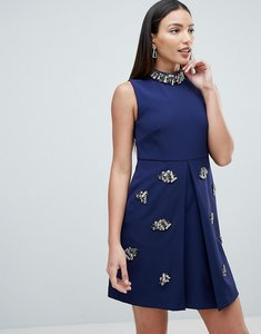 Read more about Forever unique embellished swing dress - navy