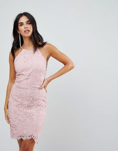 Read more about Adelyn rae louise fishtail sheath lace dress - pink sand