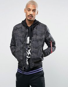 Read more about Alpha industries ma1-tt bomber jacket slim fit in black camo - black camo